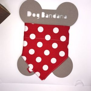 Over The Collar Pet Bandana Red/White Polka Dots
